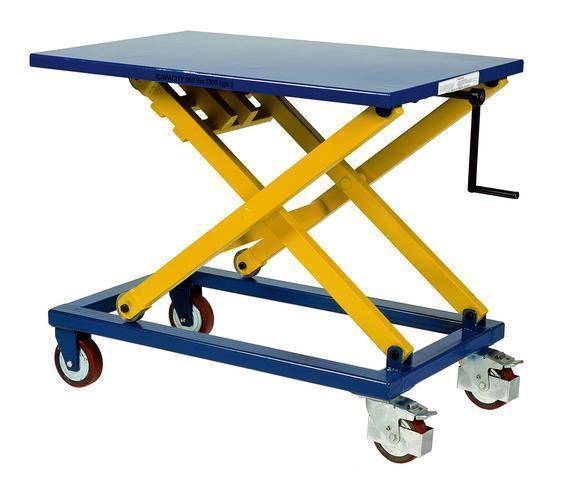 Manual Mobile Scissor Lift Tables