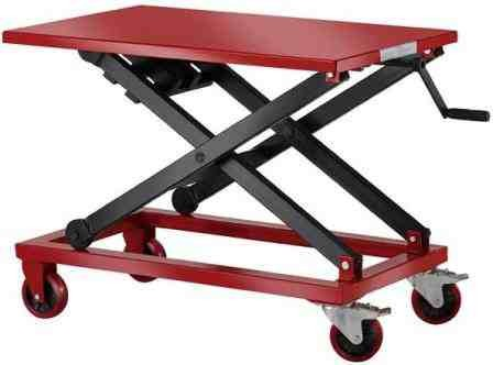 Manual Scissor Lift Table With Winch